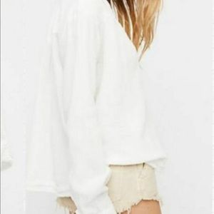 Free People Slouchy Gauze Pullover